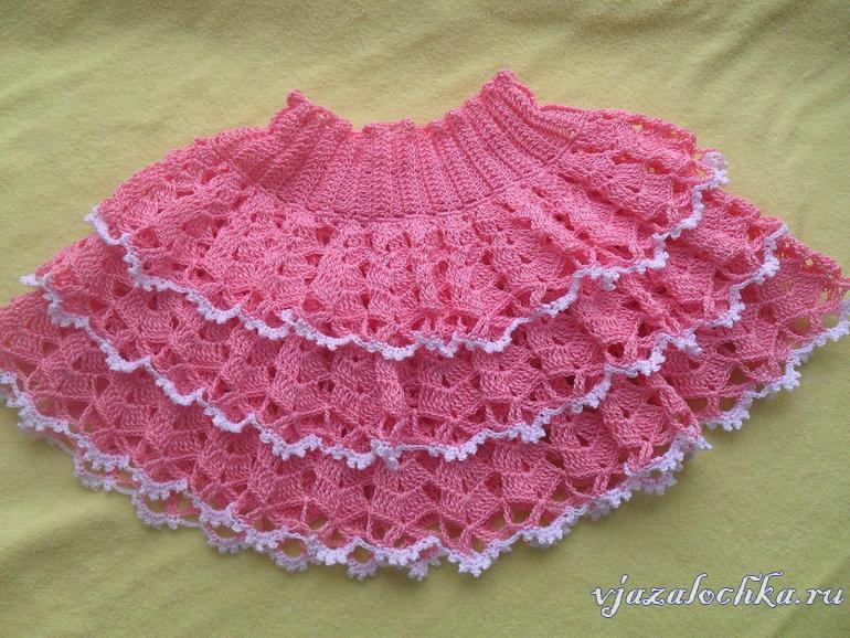 Вязаные детские юбки