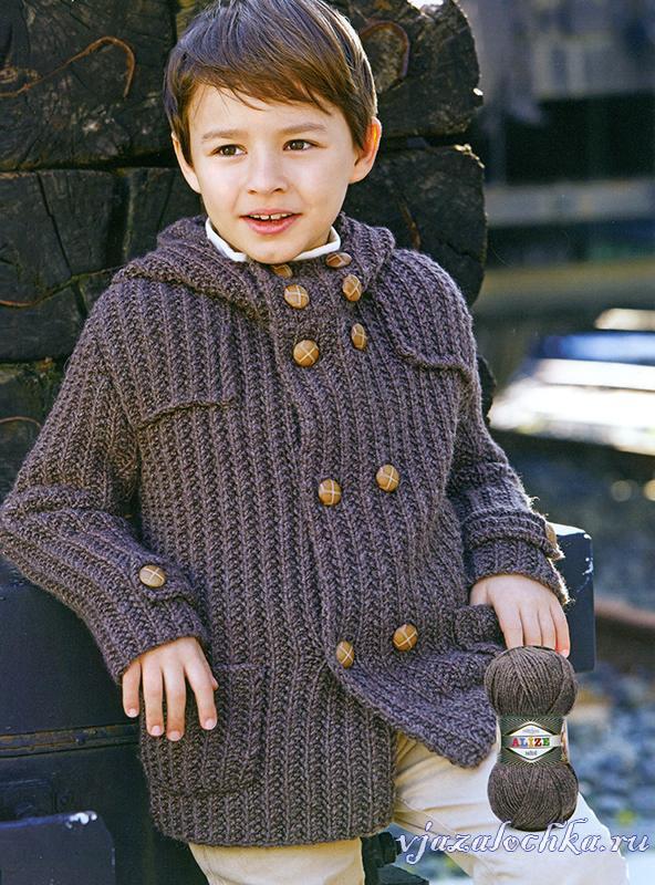 вязаные детские пальто и жакеты схемы вязания детских пальто