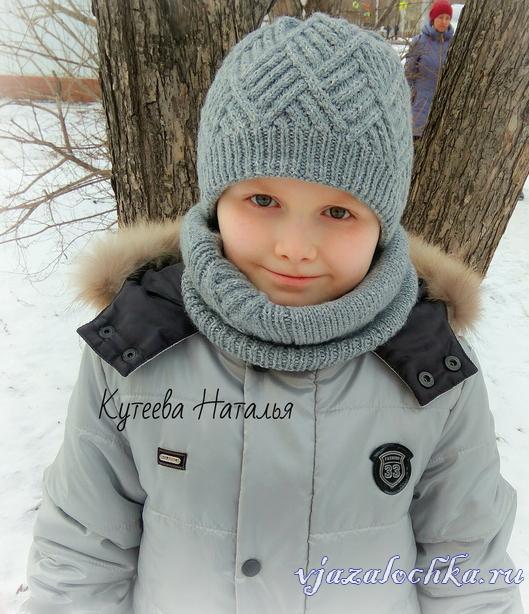 вязаные детские шапочки и шарфики схемы и модели вязалочкару