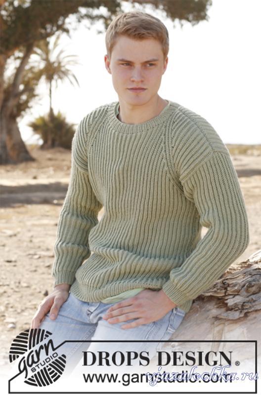 мужской свитер спицами английской резинкой