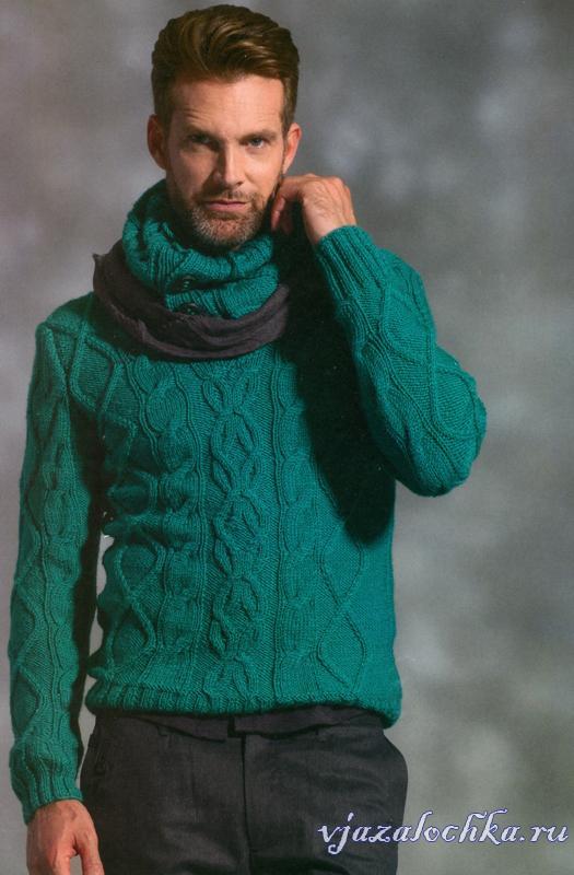 Вязаные мужские свитера, пуловеры и жакеты – Вязалочка.ру