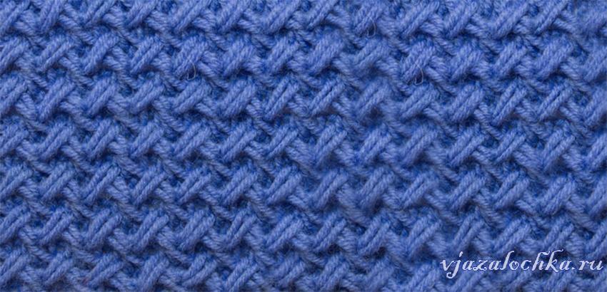 Узор спицами плетеный схема