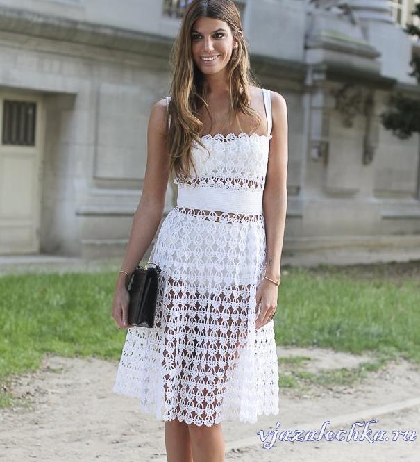 Платье элизабет крючком схема