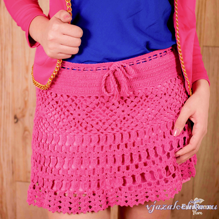 Вязаные женские юбки и шорты, схемы вязания юбок ...