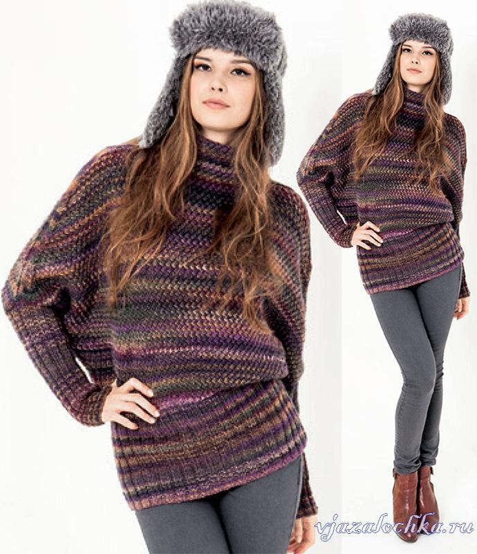 Пуловер летучая мышь